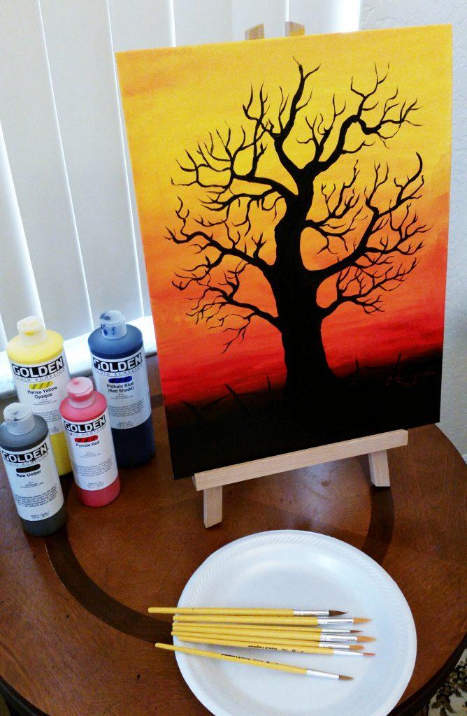 Halloween Acrylic painting